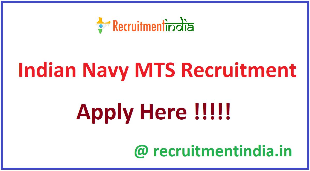 Indian Navy MTS Recruitment