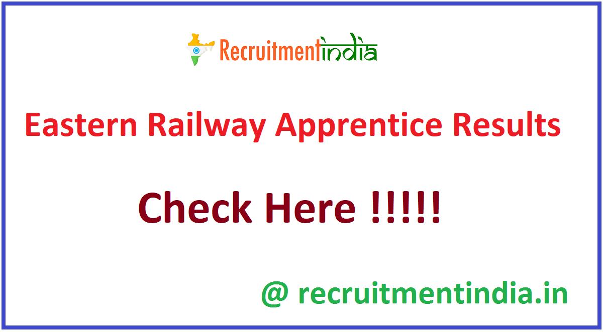 Eastern Railway Apprentice Results