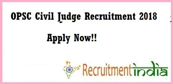 OPSC Civil Judge Recruitment
