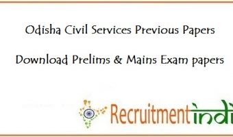 Odisha Civil Services Previous Papers