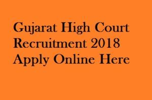 Gujarat High Court Peon Recruitment