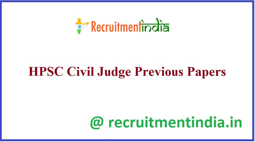 HPSC Civil Judge Previous Papers