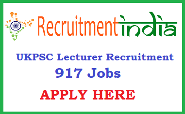 UKPSC Lecturer Recruitment