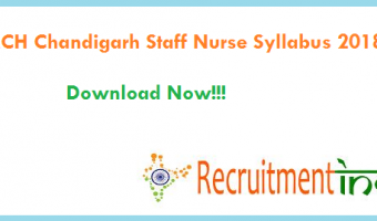 GMCH Chandigarh Staff Nurse Syllabus