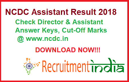 NCDC Assistant Result
