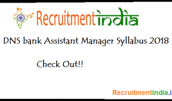 DNS Bank Assistant Manager Syllabus