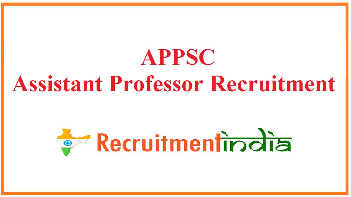 APPSC Assistant Professor Recruitment