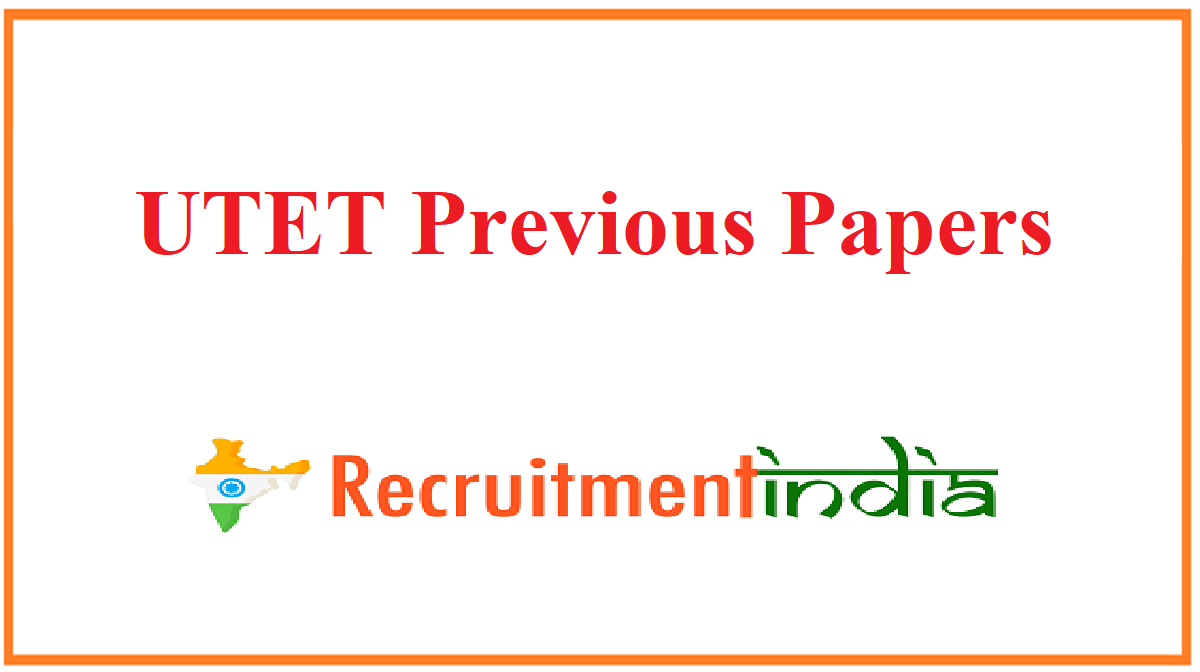 UTET Previous Papers