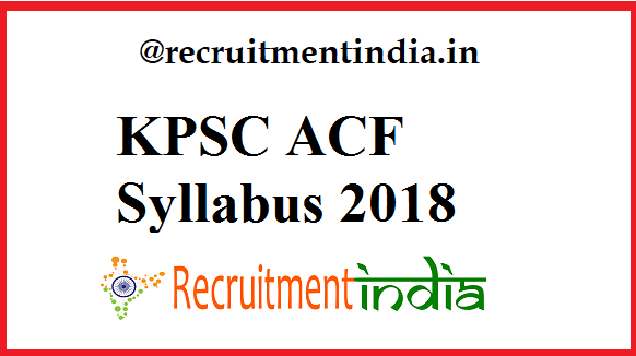KPSC ACF Syllabus