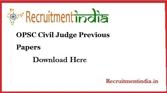OPSC Civil Judge Previous Papers