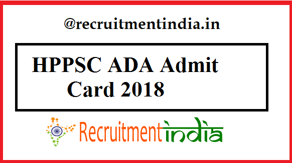 HPPSC ADA Admit Card