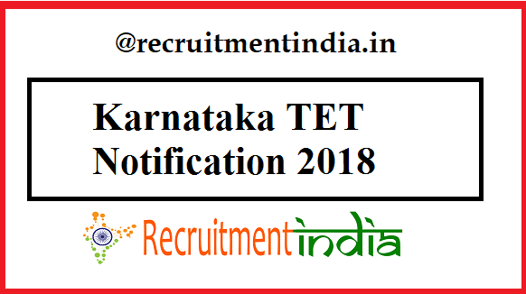 Karnataka TET Notification