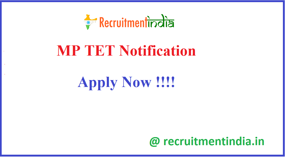 MP TET Notification