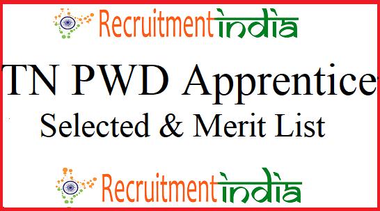 TN PWD Apprentice Result