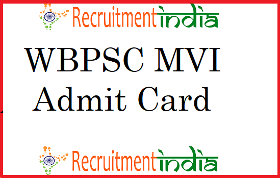 WBPSC MVI Admit Card