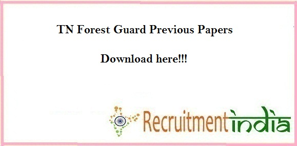 TN Forest Guard Previous Papers