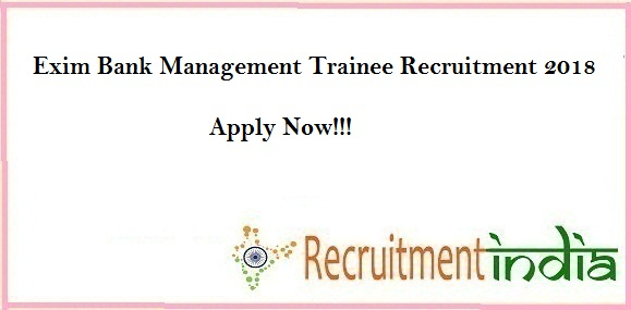 Exim Bank Management Trainee Recruitment