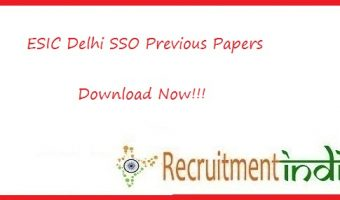 ESIC Delhi SSO Previous Papers
