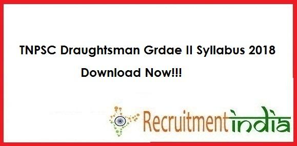 TNPSC Draughtsman Syllabus