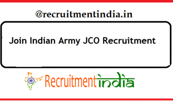 Indian Army JCO Recruitment