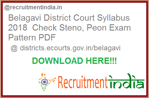 Belagavi District Court Syllabus