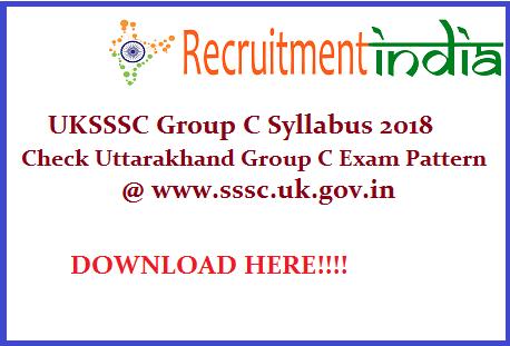 UKSSSC Group C Syllabus