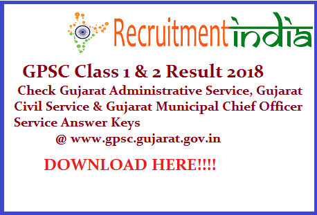 GPSC Class 1 & 2 Result