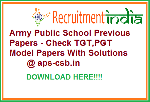 Army Public School Previous Papers