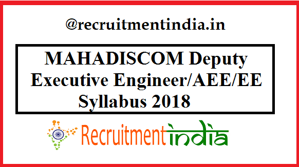 MAHADISCOM Deputy Executive Engineer Syllabus