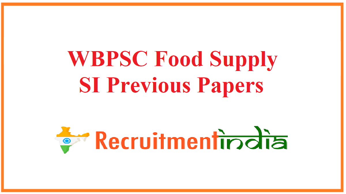WBPSC Food Supply SI Previous Papers