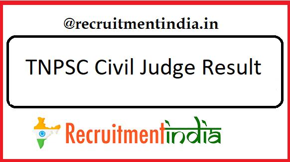 TNPSC Civil Judge Result