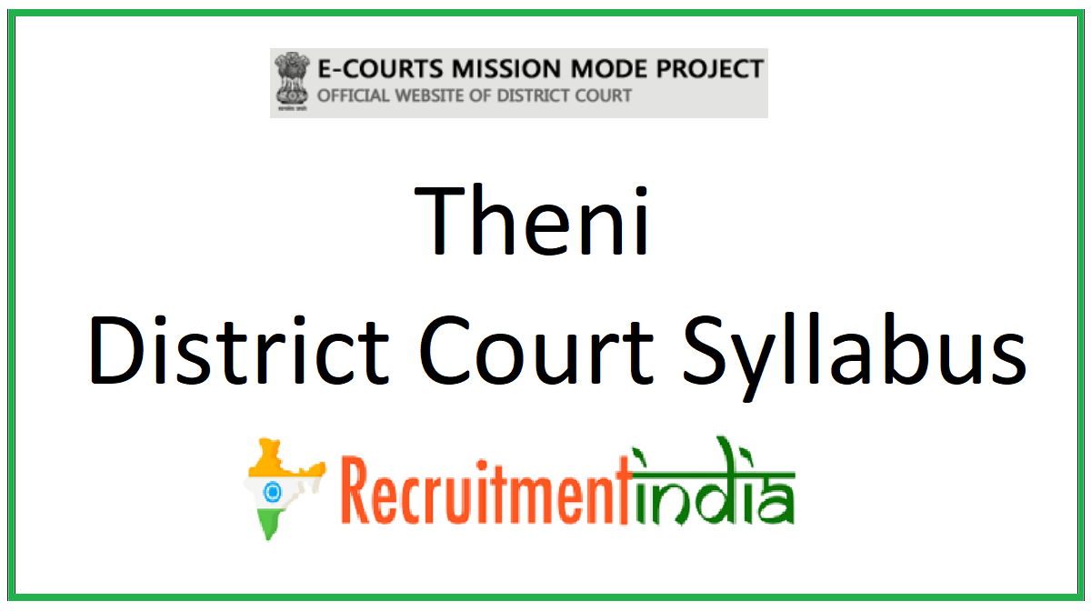 Theni District Court Syllabus