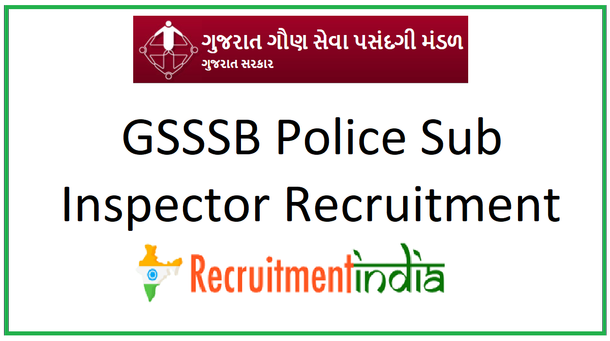 GSSSB Police Sub Inspector Recruitment
