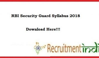 RBI Security Guard Syllabus