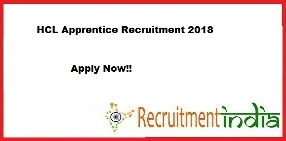 HCL Apprentice Recruitment 2018