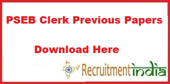 PSEB Clerk Previous Papers