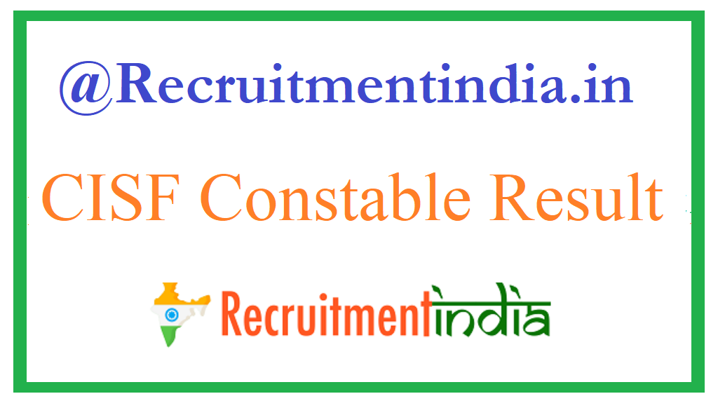 CISF Agent Result