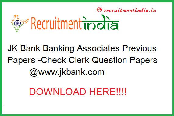 JK Bank Banking Associates Previous Papers