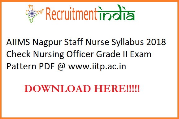 AIIMS Nagpur Staff Nurse Syllabus