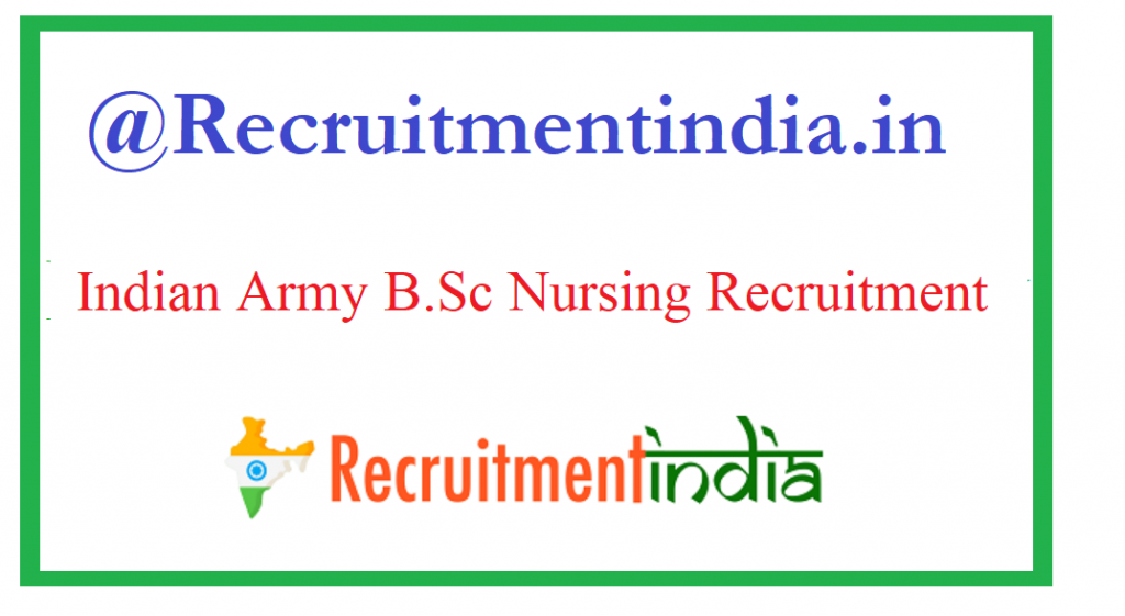 Indian Army Nursing Recruitment