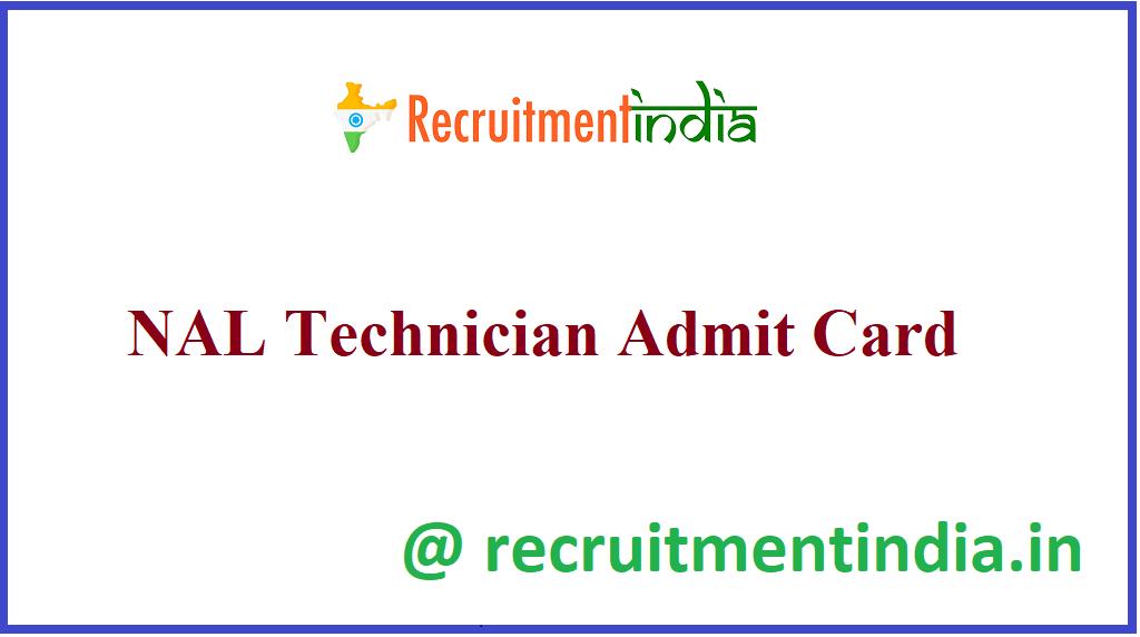 NAL Technician Admit Card