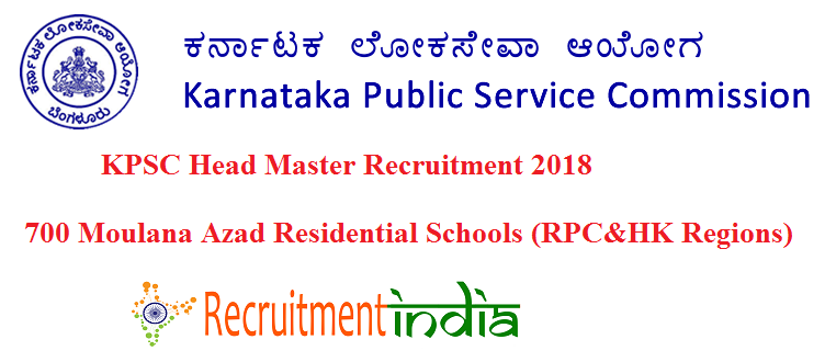 KPSC Head Master Recruitment