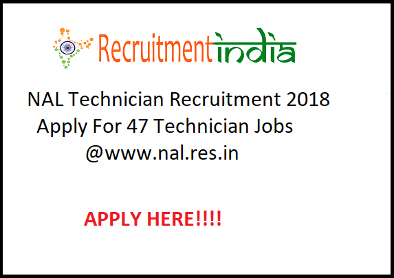 NAL Technician Recruitment