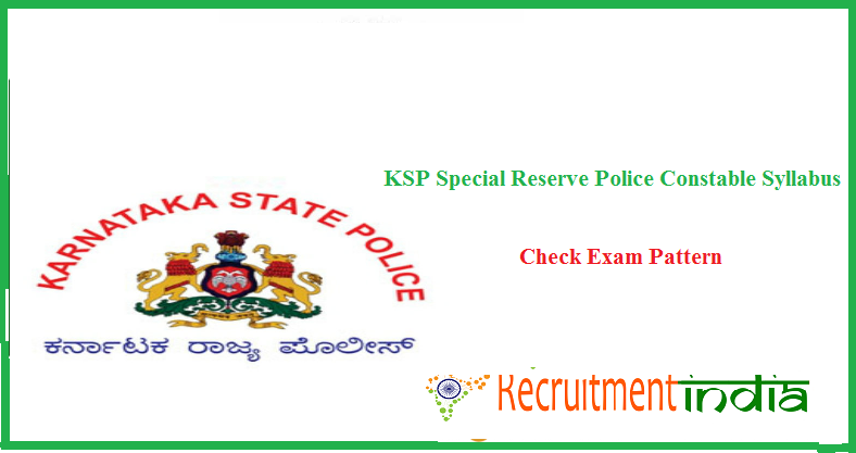 KSRP Constable Syllabus
