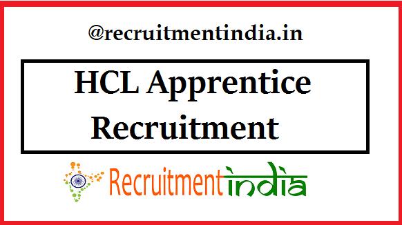 HCL Apprentice Recruitment