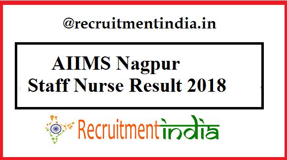 AIIMS Nagpur Staff Nurse Result