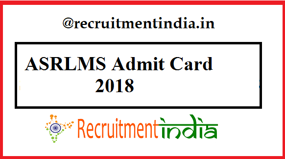 ASRLMS Admit Card
