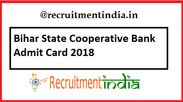 Bihar State Cooperative Bank Admit Card