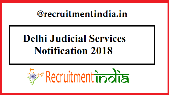Delhi Judicial Services Notification