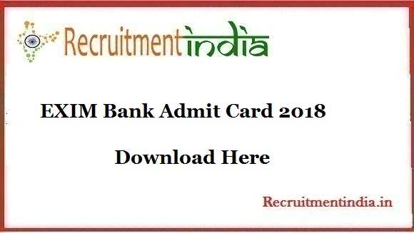 EXIM Bank Admit Card
